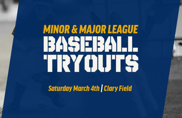 Minor & Major League Tryouts this Weekend!