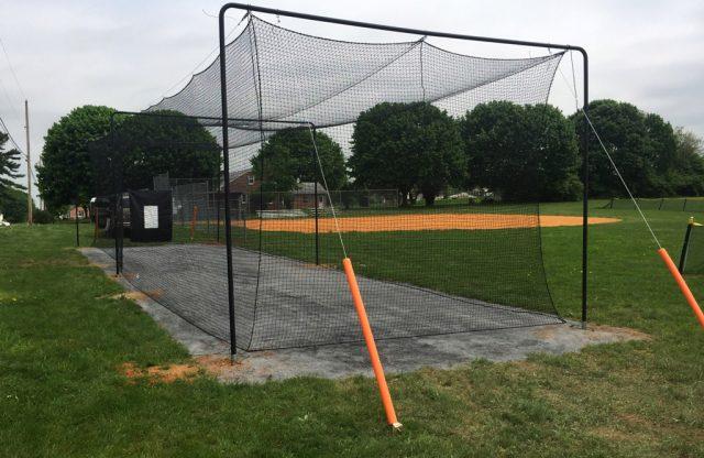 Kauffman Field Gets New Batting Cage for Girls Softball!